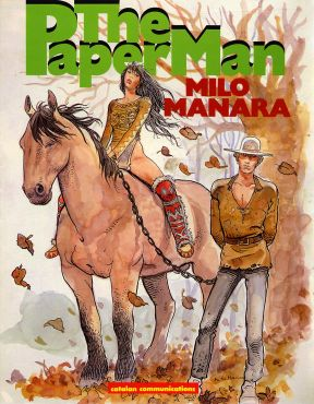 cover: The Paper Man by Milo Manara